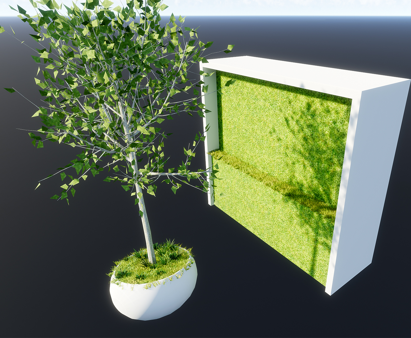Grass texture on a vertical surface? - Ideas and Requests