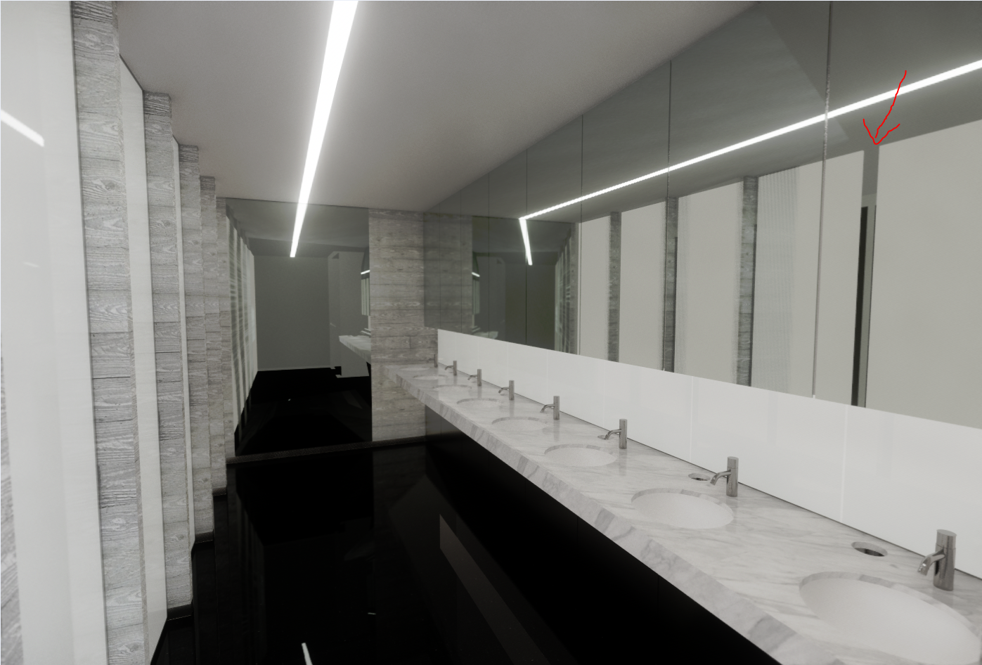 Missing Items in Mirror Reflection - Revit - Enscape