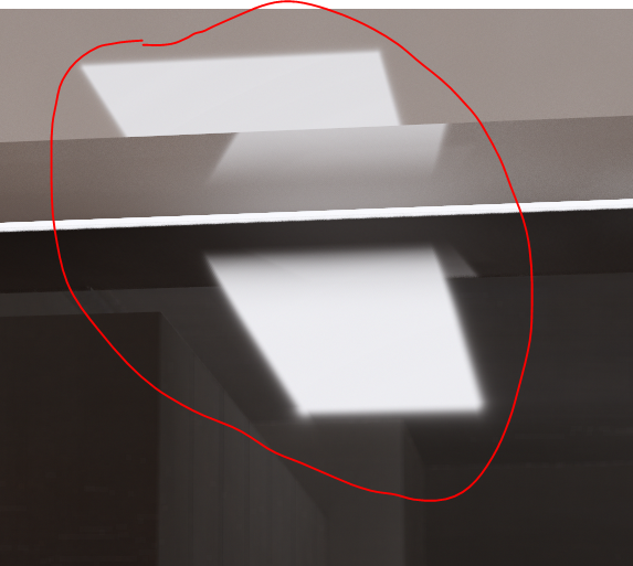 how to make rect light hide in the mirror? - SketchUp