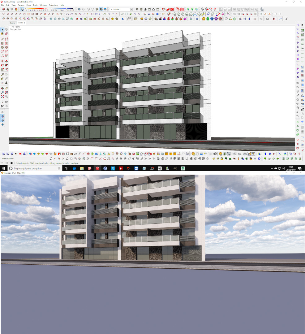 Two point Perspectives in Sketchup - SketchUp - Enscape